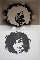 self portrait stencil by whitedenim