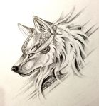 Wolf Head Design by Lucky978