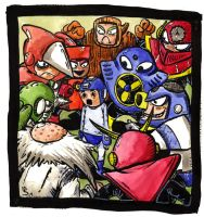 The Great Megaman Robbery by swauger