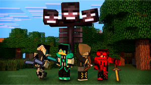 Four Heroes of Minecraft by AZ-Derped-Unicorn