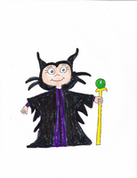 Isabella as Maleficent by DisneyDude-94