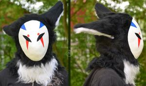 Random Masked Beast - Fursuit Head Test by Metal-CosxArt