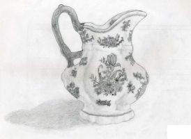 Porcelain Pitcher by Arienne-Keith