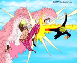 Donquixote Doflamingo Vs Sanji - One Piece 723 by KhalilXPirates