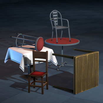 Restaurant Tables and Chairs Models for SFM by Py-Bun