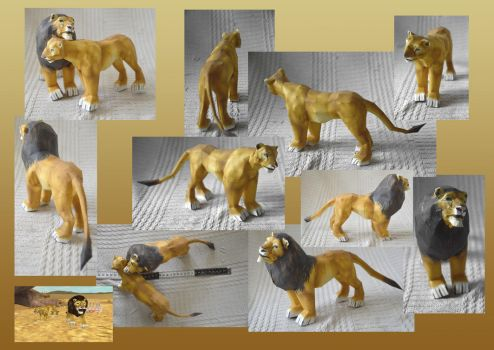 Zoo Tycoon Paper Collection - Lion by DrWheelieMobile