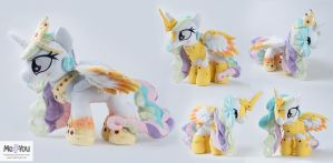 Rainbow Power Celestia plush with two outfits by meplushyou