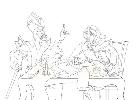 Jafar and Mozenrath conversation (unfinished) by AsjJohnson