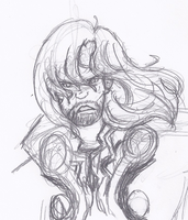 Thor quick sketch by MisakiChi123