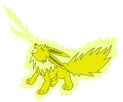 Jolteon used Discharge! by Brookreed
