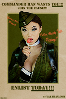 Yaya Han's Amber Fan Poster by DantesLink