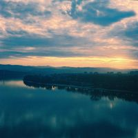 danube sunset by unpluggedsrb1