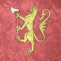Kingdom of Norway ~ CoA Grunge Flag (1280 - ) by Undevicesimus