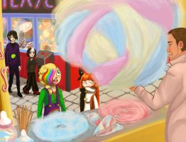 Cotton candy at the funfair by DynastyCoco