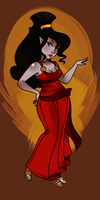 Disney character: Eternity as Megara by MaryLittleRose