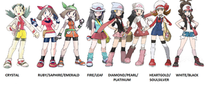 Female Trainers of Pokemon v2 by teamr