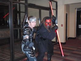 Sith Lord and Warrior elf by Red-Dragon-Lord