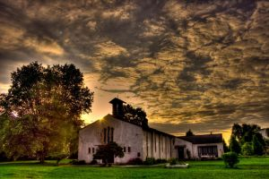 HDR Lonly Church by 89-RAW-89
