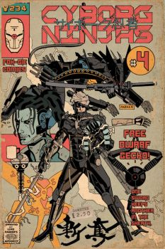 GAMETEE MGS CYBORG NINJA#4 by future-parker