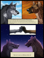 The Wolf and The Hyena by blueharuka