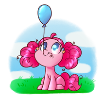 Pinkie And Her Balloon by SunnyHoneyBone