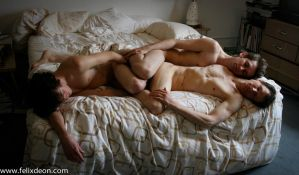 Three Nude Boys in Bed 6 adf by TheMaleNudeStock