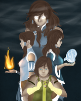 Spirits of Korra by kelsubus