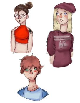 Some peeps by VivlynDraws