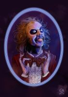 Fanarts in the mirror : We meet again(Beetlejuice) by Elisa2B