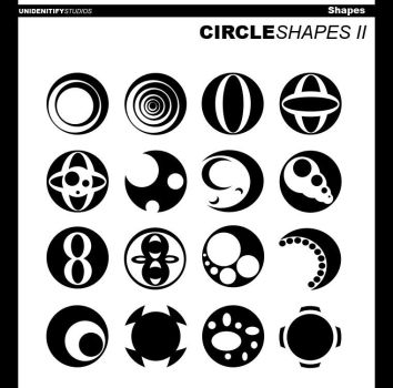 Circle Shapes II for Photoshop by UnidentifyStudios
