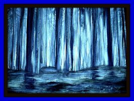 Blue Wood Paint by YOKOKY