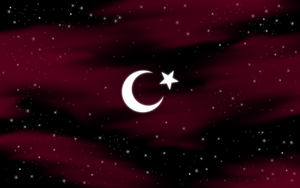 Turkish flag on sky by h2okerim