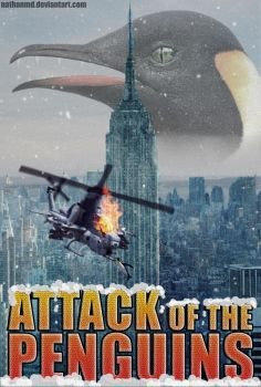 Attack of the Penguins Movie Poster by NathanMD