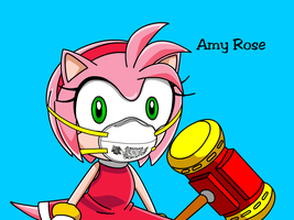 Amy Rose in N95 Mask by MasterAccount