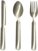 Knife Fork Spoon Silver Png Clipart by clipartcotttage