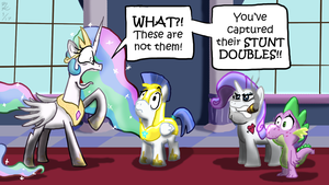 Stunt Doubles by Piggybank12