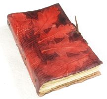 Bright red autumn journal by gildbookbinders