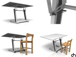 Work Table 3D by DaniNeves