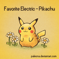 Favorite Electric - Pikachu by Paleona