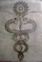 Caduceus (unfinished) by Wlayko111