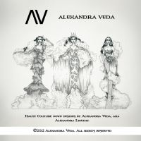 AV Haute Couture Gown Designs by AlexandraVeda