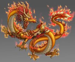 Chinese dragon by Zero-Position-Art