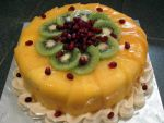 Mango Pomegranate Cake by Sliceofcake