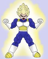 Super Sayian Vegeta by CycKath
