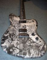 WWII Photo-Collaged Guitar by sweetUnnecessary
