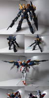 HGUC Unicorn Gundam Banshee Norn and Wing Zero by Blayaden