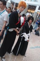 Ichigo and lueitenant Rukia by theRukiakitty