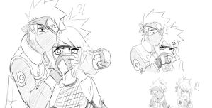 Kakashi and Anko_Scrap scene by KickBass77