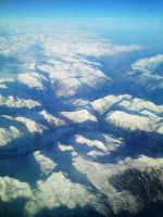 Flying over the Alps by Harvy355