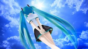 Under the sky_Hatsune Miku MMD lat model by aki-2012-miku